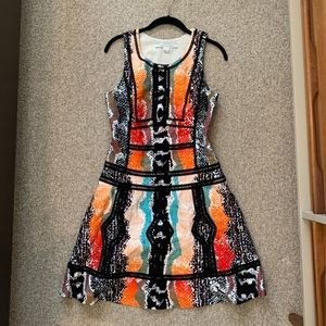Stunning DVF multi colour dress